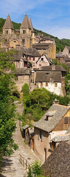 High in the hills in southern France ~ is the pictursque little village of Conques in the department of Aveyron.