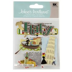 <div>Make travel-themed projects pop with texture and dimension. These Jolee's Boutique Italy Di...
