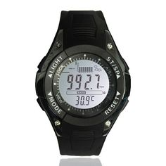 3 ATM Waterproof/Digital Fishing Wrist Watch. 3 ATM Waterproof/Digital Fishing Smartwatch Barometer Altimeter Thermometer Weather Forecast Digital Wrist Watch   Item Type: Digital Wristwatches  Water Resistance Depth: 3 Bar  Case Shape: Round  Movement: Digital  Feature: Shock Resistant,LED display  Clasp Type: Buckle  Model Number: Fishing Barometer Watch  Dial Diameter: 45  Dial Window Material Type: Glass