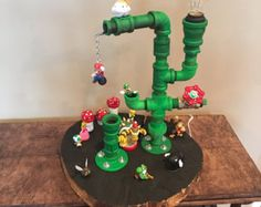 Awesome Super Mario Green Pipe Lamp by LsEmporium on Etsy