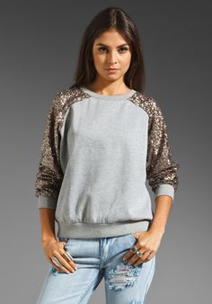 LOVERS + FRIENDS Lover Sequin Pullover in Grey Sequins at Revolve Clothing - Free Shipping!
