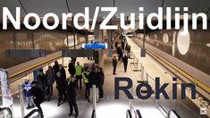 Noord/Zuidlijn Station Rokin Kunstwerk - GVB R-net Metro Amsterdam Net, Tech Companies, Amsterdam, Basketball Court, Company Logo, Logos, Logo, Legos