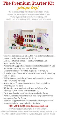 THE YOUNG LIVING JUNE 2015 PREMIUM STARTER KIT PRICES PER DROP