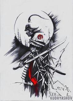 Bild Ergebnis für Samurai Tattoo Design - New Tattoo Models - Tattoo Inspirat. Bild Tattoos, New Tattoos, Body Art Tattoos, Tattoos For Guys, Sleeve Tattoos, Tatoos, Temporary Tattoos, Samurai Drawing, Samurai Artwork