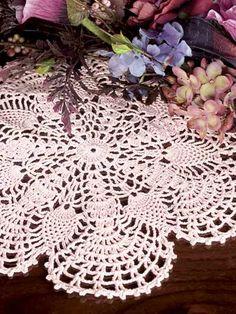 crocheted pineapple fans doily-free pattern download