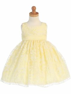 Yellow Burnout Dress for baby flower girl