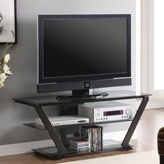 Sonax Ml 1454 Milan Hybrid Gun Metal Tv Stand Ping The Best Deals On Entertainment Centers Furniture Accessories