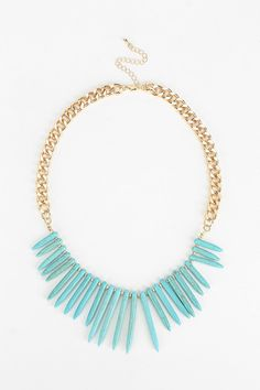 Turquoise Spikes Necklace | Urban Otfitters