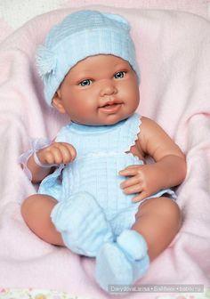 Младенец в голубом от Antonio Juan / Коллекционные куклы (винил) / Шопик. Продать купить куклу / Бэйбики. Куклы фото. Одежда для кукол