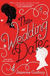 """The Wedding Date by Jasmine Guillory  """"Drew is in San Francisco for his ex-girlfriend's wedding. When he finds himself stuck in an elevator with Alexa, they hatch a plan to go to the wedding together, pretending to be a couple. Told in alternating points of view, this is a delightful multicultural romance.""""  Elizabeth Gabriel, Milwaukee Public Library, Milwaukee, WI"""