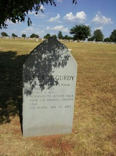 Elmer McCurdy. Buried in Boot Hill at Guthrie Oklahoma. Check this guy out on the web to learn that this guy covered more ground dead than he did alive. One travling bad man.