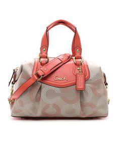 Khaki & Tea Rose Dot Ashley Satchel. I'm not a big fan of coach bags but this one is cute!!