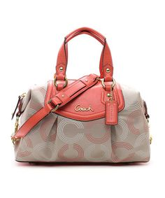 Khaki & Tea Rose Dot Ashley Satchel. I'm not a big fan of coach bags but this one is cute!!