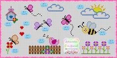 Nancy Kranz's media content and analytics Cross Stitch Tutorial, Easy Cross Stitch Patterns, Cross Stitch Borders, Cross Patterns, Cross Stitch Designs, Cross Stitching, Cross Stitch Embroidery, Beading Patterns, Kawaii Cross Stitch