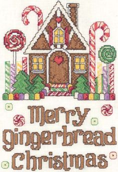 cross stitch gingerbread house - Pesquisa Google