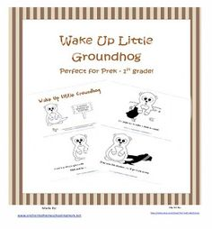 Free Printable Emergent Reader Wake Up Little Groundhog