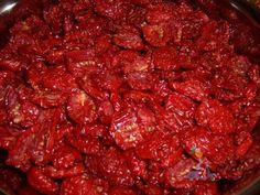 THE BEST DELICIOUSLY RED AND SWEET SUN DRIED TOMATOES (Pomodori Secchi) ....under the Sicilian sun!