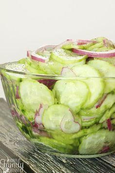 Easy Vinegar Marinated Cucumbers (Cucumber Salad)