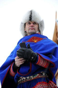 A Saami man in a national costume, Tromsø / Norway