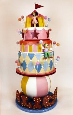 Circus by Anna/ Charm City Cakes Circus Theme Cakes, Themed Cakes, Circus Party, Circus Wedding, Crazy Cakes, Fancy Cakes, Gorgeous Cakes, Amazing Cakes, Fondant Cakes