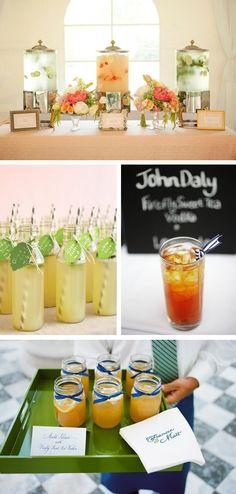 wedding non alcoholic drinks :) various lemonades