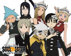 soul,maka,kid,black star,patty,liz et tsubaki.