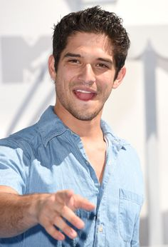 Tyler Posey Photos - Actor Tyler Posey attends The 2015 MTV Movie Awards at Nokia Theatre L. Live on April 2015 in Los Angeles, California. - The 2015 MTV Movie Awards - Arrivals Hunger Games Problems, Hunger Games Humor, Tyler Posey Teen Wolf, Cute Baby Boy Names, Scott And Stiles, Johanna Mason, Scott Mccall, Mtv Movie Awards, Katniss Everdeen