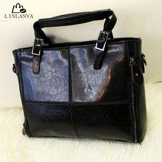 LINLANYA European PU Leather Women Handbag Patchwork Designer Brand High Quality Ladies Office Shoulder Bag Women Crossbody Bags | Price: US $17.54 | http://www.bestali.com/goto/32340425991/10