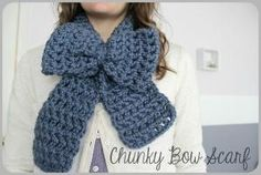 Hey! Here's a pattern for the Anthropologie Bow knock-off scarf, and it's Free!. by sheena