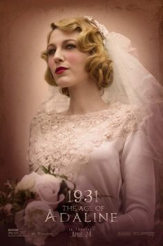 Blake Lively as a vintage bride in the Age of Adeline poster