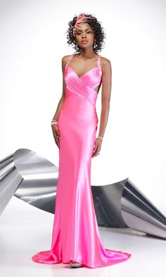 Sweetheart Sweep/Brush Train Poly Charmeuse Prom Dress Style 6583