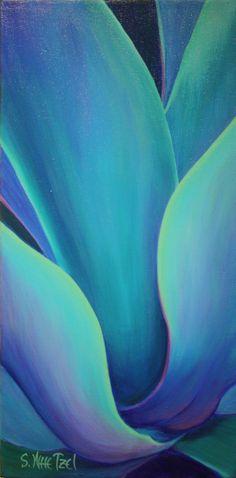 Succulent Embrace 10x20 Acrylic ©Sandi Whetzel