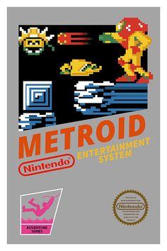 Metroid Poster Nintendo 8bits NES Video Game by GeekyPrints