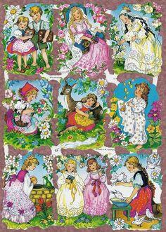 Little girl Vintage die cuts scraps Victorian decoupage Christmas Decals, Vintage Greeting Cards, Old Postcards, Vintage Paper, Vintage Clip, Sticker Paper, Vintage Children, Vintage Images, Altered Art