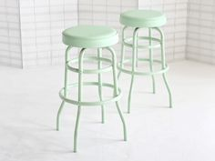 Vintage Diner Stool Mint by DailyGeneral on Etsy Mint Green Aesthetic, Vintage Diner, Azul Tiffany, Pastel Mint, Mint Color, Home And Living, Living Room, Bar Stools, Counter Stools