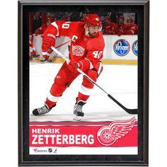 """Henrik Zetterberg Detroit Red Wings Fanatics Authentic 10.5"""" x 13"""" Sublimated Plaque - $23.99"""