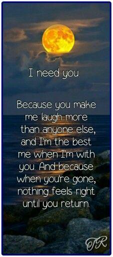 I need you....