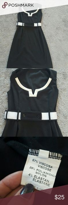 Italian made MOD dress size small Beautiful dress MADE IN ITALY Was one of my favorites It is a bit faded....but I bought it like this More of a charcoal black color with white belt contrast Veey elegant and super comfortable You will get compliments on this dress NO TRADES NO LOWBALL OFFERS NO NEGOTIATING OVER COMMENT, USE OFFER BUTTON Made in Italy Dresses Midi