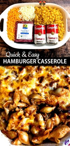 Simple Hamburg casserole recipe (4 ingredients) - Simple Hamburg casserole recipe ... -  Simple Hamburg bake recipe (4 i Simple Hamburg casserole recipe (4 ingredients) - Simple Hamburg casserole recipe ... -  Simple Hamburg bake recipe (4 ingredients) – Simple Hamburg bake recipe (4 ingredients) – Instr - #Beef #casserole #Dinners #GlutenFree #hamburg #ingredients #PaleoRecipes #recipe #simple # easy dinner recipes for two crockpot<br> Simple Hamburg casserole recipe (4 ingredients)… Easy Dinners For Two, Easy Healthy Dinners, Easy Healthy Recipes, Quick Easy Meals, Dinner Healthy, Health Recipes, Simple Recipes, Easy Hamburger Casserole, Easy Casserole Dishes