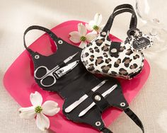 With our Cheetah Print Purse Four-Piece Manicure Set favor, youll be able to put a stylish and chic spin on the bridal shower. Friends and family will adore the cheetah animal print manicure set for its. Unique Wedding Favors, Wedding Party Favors, Bridal Shower Favors, Wedding Gifts, Wedding Souvenir, Wedding Ideas, Wedding Stuff, Animal Print Purses, Animal Prints