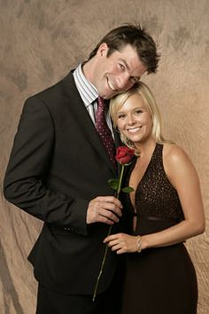 THE BACHELOR:  Charlie O'Connell and winner Sarah Brice (2005)