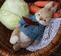 Handmade teddy bear peter rabbit