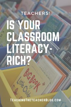 Is Your Classroom Literacy Rich? Physical Environment, A Classroom, Literacy Activities, Physics, Teacher, Student, Children, Blog, Posts