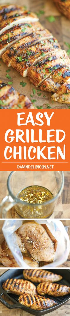 Outstanding Easy Grilled Chicken – The best and easiest marinade ever – no-fuss and packed with so much flavor! You'll never need another grilled chicken recipe again! The post Easy Grilled Chick . Grilling Recipes, Cooking Recipes, Healthy Recipes, Healthy Grilled Chicken Recipes, Healthy Grilling, Turkey Recipes, Love Food, Food To Make, The Best