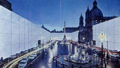 Superstudio, il Monumento Continuo, Piazza Navona, 1970