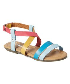 Look what I found on #zulily! Ositos Shoes Blue Rainbow Sandal by Ositos Shoes #zulilyfinds