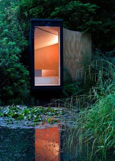 Modern Meditation Hut: Forest Pond House by TDO ArchitectureForest Pond House is a modern meditation hut by TDO Architecture that is located in rural Hampshire, UK. It creates a dramatic transition as one is tr... Architecture Check more at http://rusticnordic.com/modern-meditation-hut-forest-pond-house-by-tdo-architecture/