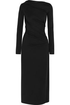 Black stretch-jersey Slips on viscose, elastane Dry clean Spring Dresses, Dresses For Work, Sienna Miller Style, Alexander Mcqueen Ring, Vivienne Westwood Anglomania, White Outfits, Fashion Dresses, My Style, How To Wear