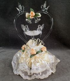 Looking For Something Old But Special Heres A Pretty Cake Top That Wedding ToppersWedding CakesPretty CakesBlown GlassSomething