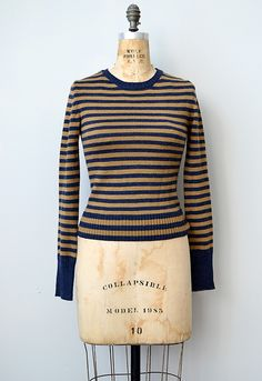 vintage 1970s striped knit sweater top